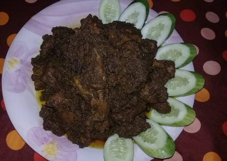 Rendang daging sapi (dijamin empuk dan gurih)