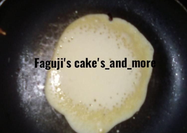 Steps to Prepare Homemade Pancake