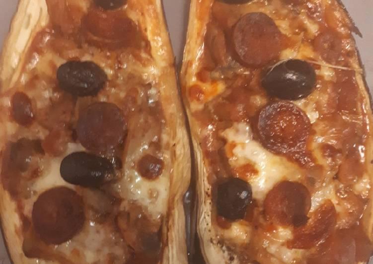 Les Meilleures Recettes de Aubergines farcies façon pizza