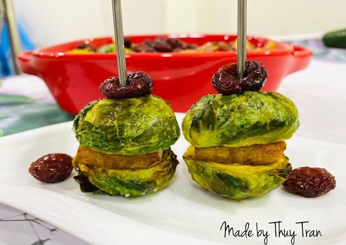 Finger Food 9 👌- món chay 🌱🍃Burger bắp cải Brussels tí hon  - Rau củ nướng hình đại diện món