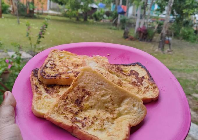 Bread 🍞 with egg versi manis