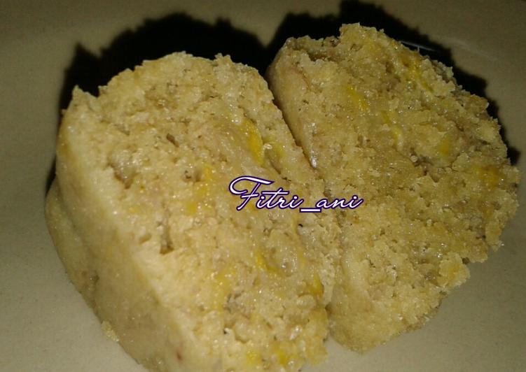 Bolu Pisang Kukus Simpel (no mixer, no timbangan)