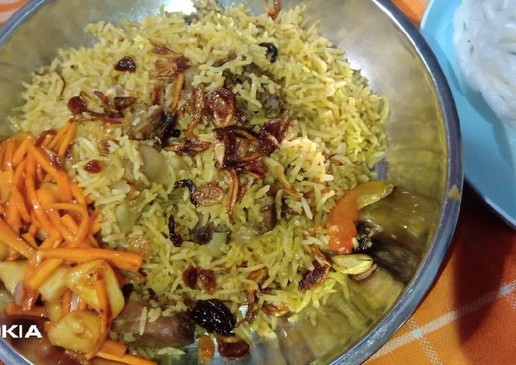 Zalatah, pelengkap nasi briyani