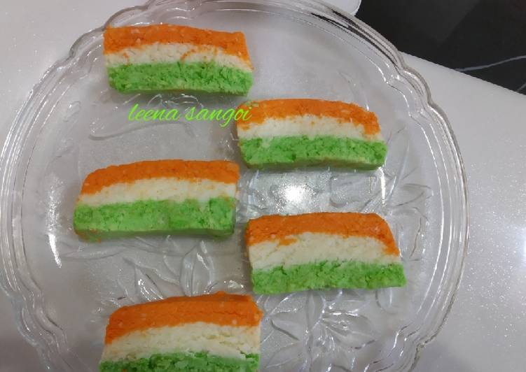 5 Minute Steps to Prepare Summer Tiranga Sandesh