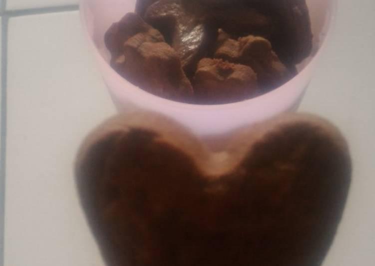 Bagaimana Menyiapkan Good Time (tanpa chocochips) / Kue Kering cokelat, Lezat Sekali