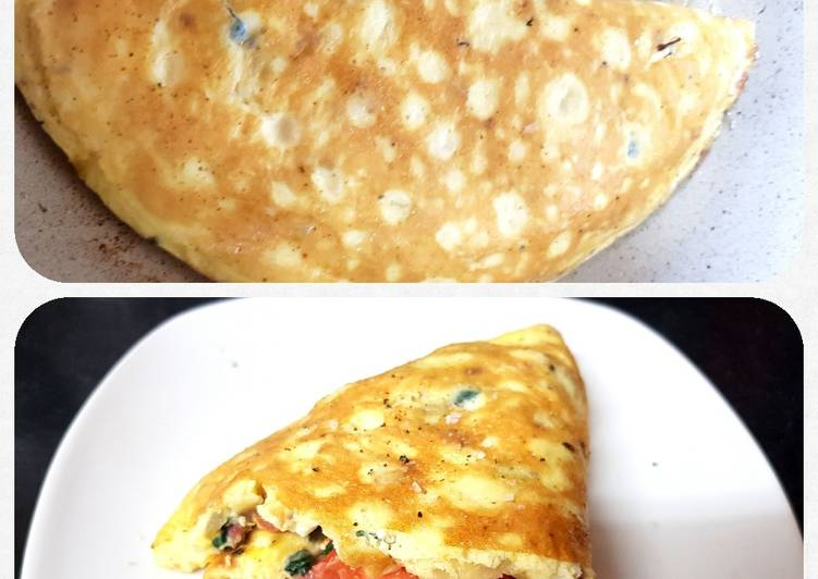 Recipe of Speedy My Folded Pancetta Omelet 😉