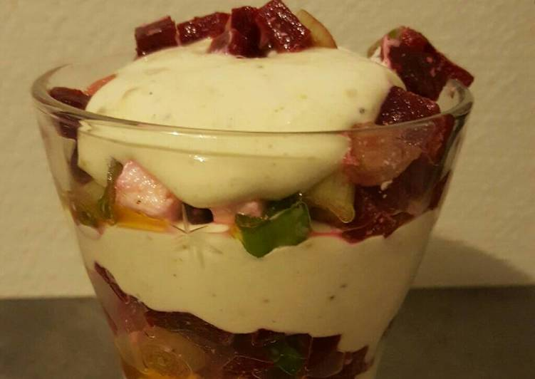 Verrine betterave et mascarpone