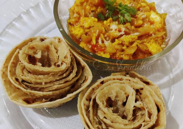 Paneer bhurji and paratha