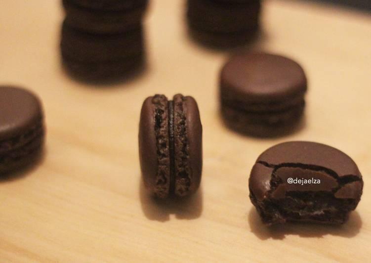 Dark choco french macaron less sugar