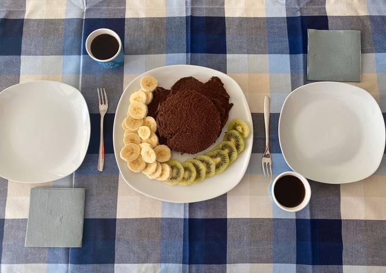 Pancakes all'avena e cacao