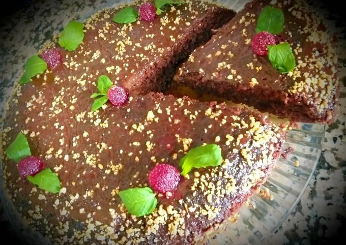 La tarte aux chocolat,framboise