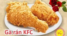 Hình ảnh món Gà chiên KFC || Gà Rán Giòn Bên Ngoài, mềm, thơm bên trong như KFC