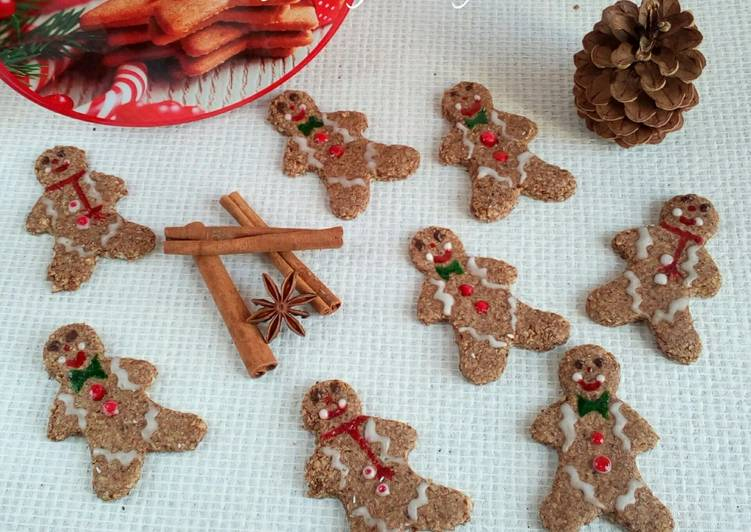 Gingerbread man healthy et sans gluten