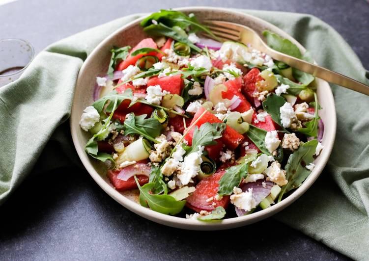 Salade de pastèque rafraichissante 🍉