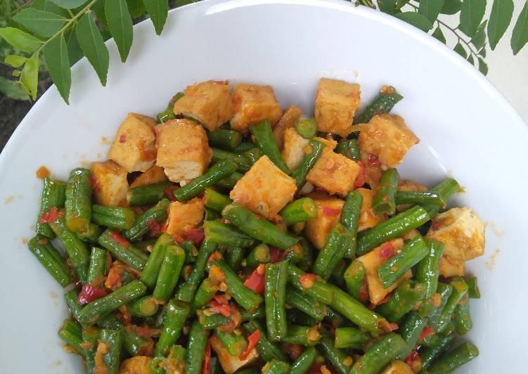 Cara Memasak Tumis Pedas Tahu Kacang Panjang enak dan mudah