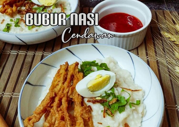 Bubur Nasi Cendawan - resepipouler.com