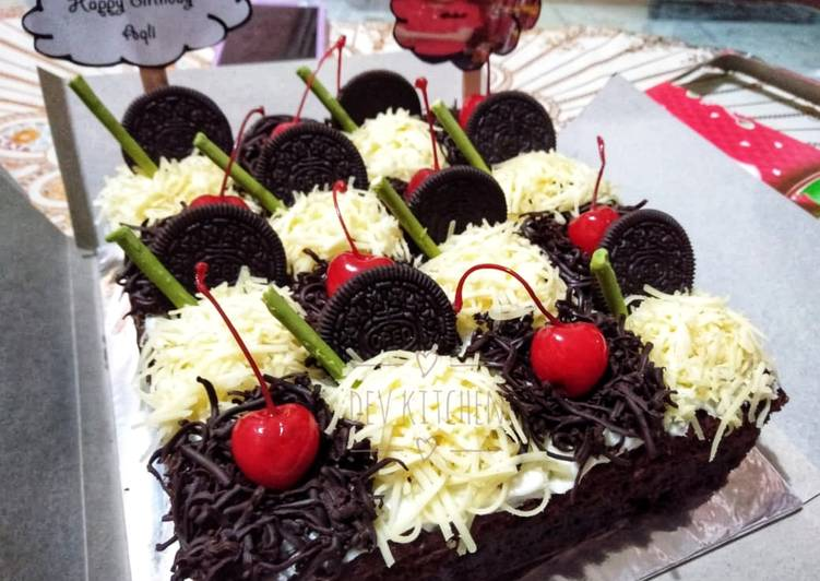 Bagaimana Membuat Kue ulang tahun brownies kukus ny liem Anti Gagal