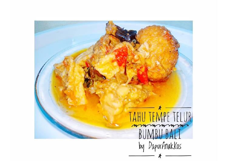 Resep Tahu tempe telur bumbu bali 💙 Jadi, tidak cukup satu