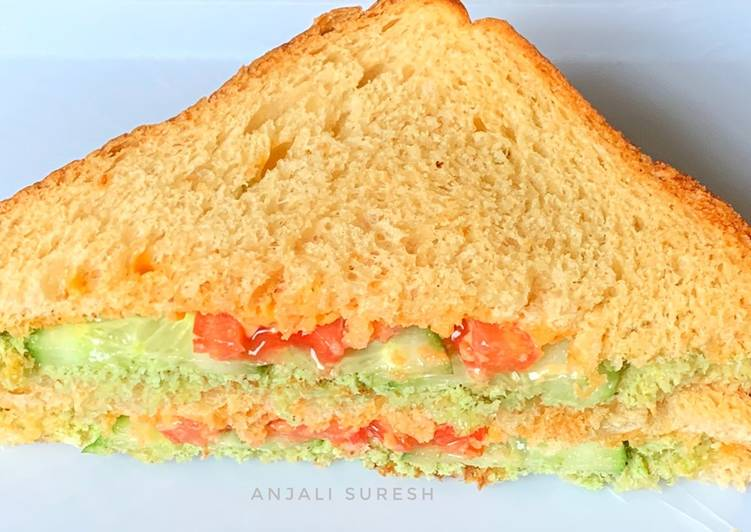 10 Minute Recipe of Love Green chutney and Mayo sandwiches