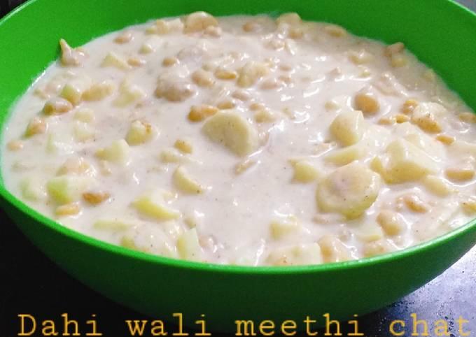 Dahi wali meethi chat