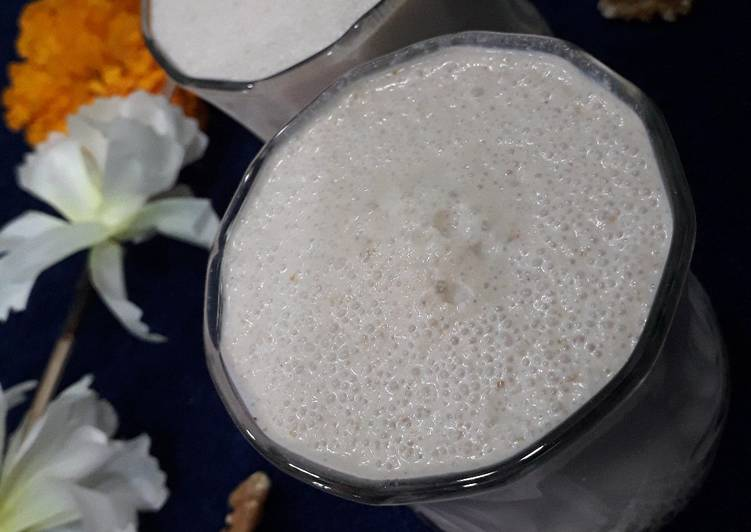 Walnuts smoothie very healthy and nutritious drink without sugar