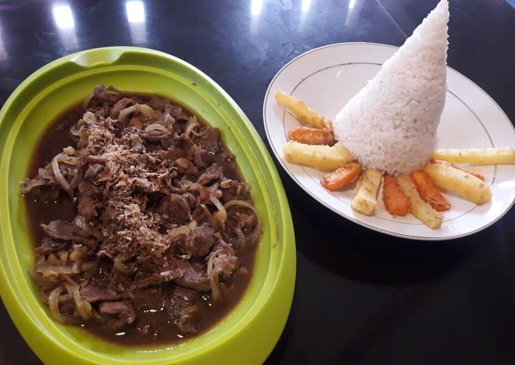 Resep Bistik daging sapi sederhana Enak