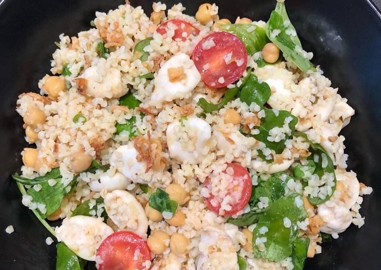 Méthode simple pour Faire Parfait Salade d'encornets aux pois chiches