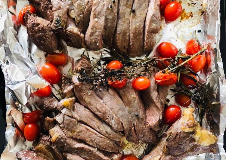 Ricetta Tagliata al Forno con pomodorini