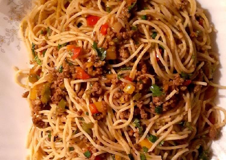 Simple Way To Prepare Speedy Spaghetti Bolognese Dayli Recipes