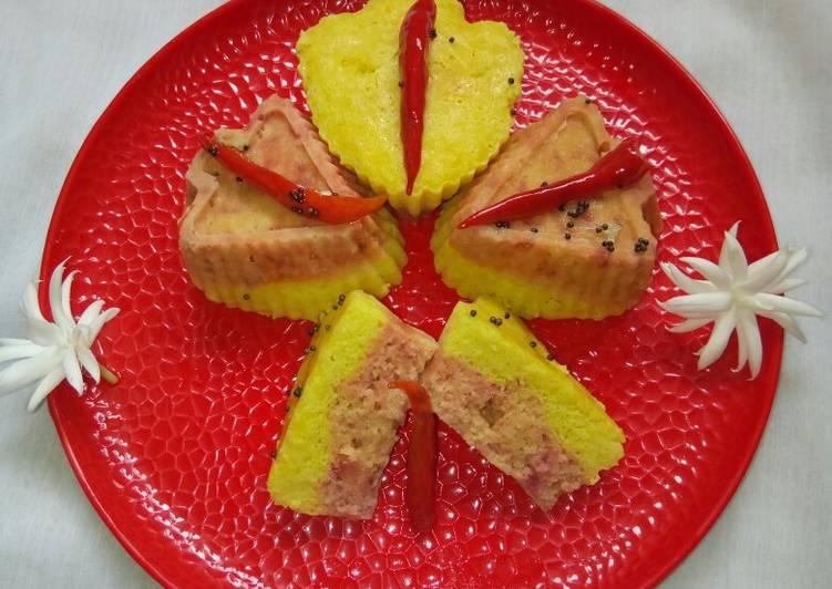 Two layered muffin khaman