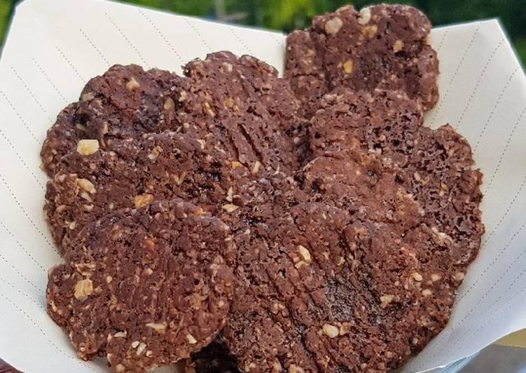 5.Oat chocolate cookies🍪💕 (Teflon + Takaran sendok + No mixer)