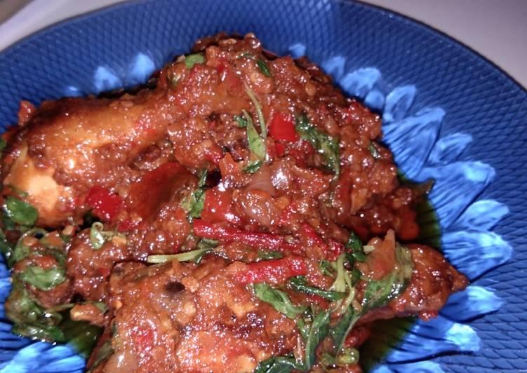 Judul : Ayam pedas bumbu kemangi