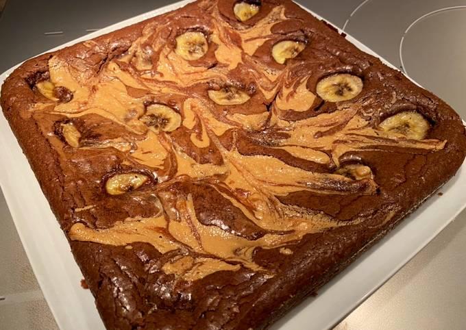 Brownie banane et beurre de cacahuètes