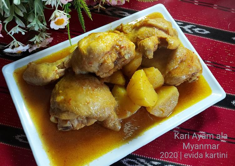 Bagaimana Menyiapkan Kari Ayam ala Myanmar Anti Gagal