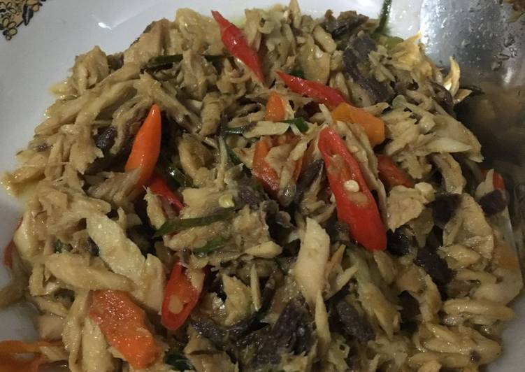 Tongkol suwir pedas / pampis tongkol - cookandrecipe.com