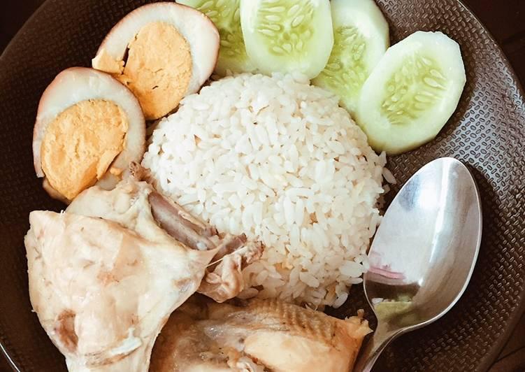 Resep Nasi Hainam, Ayam Hainam, Pindang Telur Anti Gagal