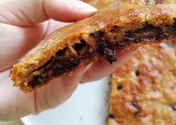 Simple Way to Make Quick Fondant banane gluten free, pépites de chocolat noir et pb 🤤