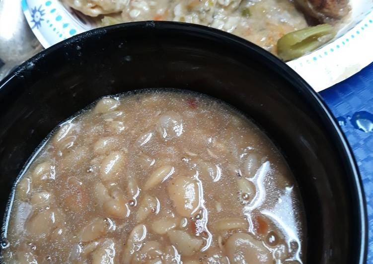 Dried Baby Lima Bean Soup