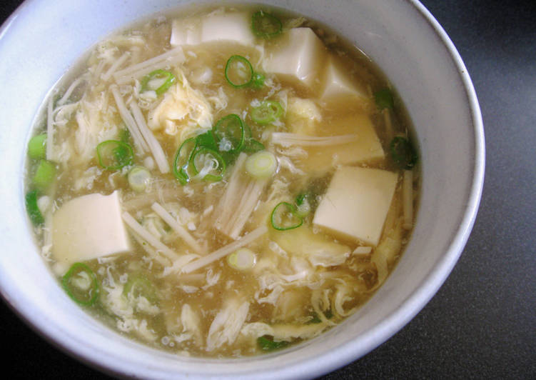 Easiest Way to Make Most Popular Enoki, Tofu & Egg Soup