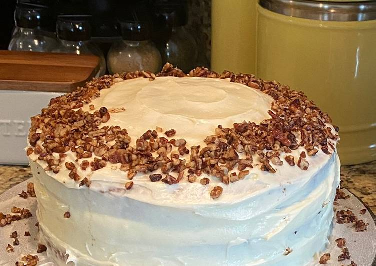 Layered Butter Pecan Cake