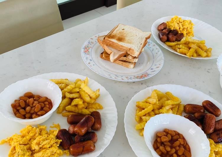Cara Mudah Masak: English Breakfast (Cepat & Mudah)  2021