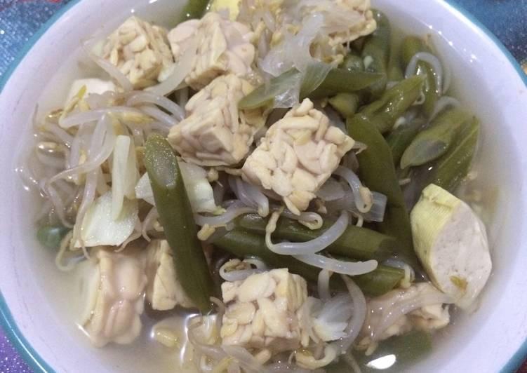 Resep Sayur Bening Tahu & Tempe Campur, Bikin Ngiler