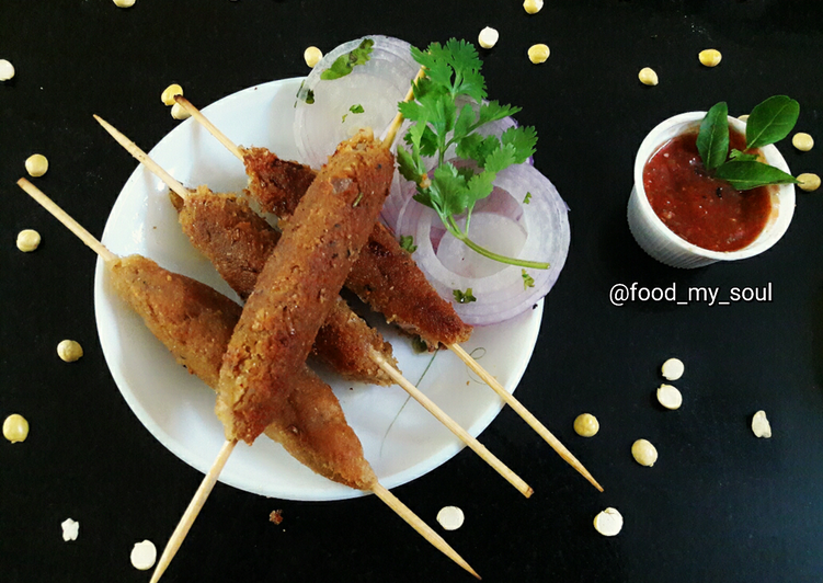 5 Minute Easiest Way to Prepare Super Quick Homemade Soya Sattu Seekh Kebab