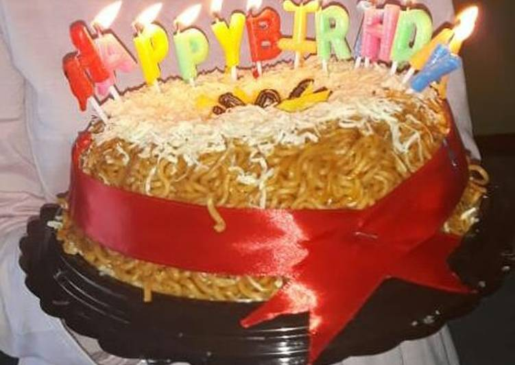 makanan pengganti kue ulang tahun mie instan