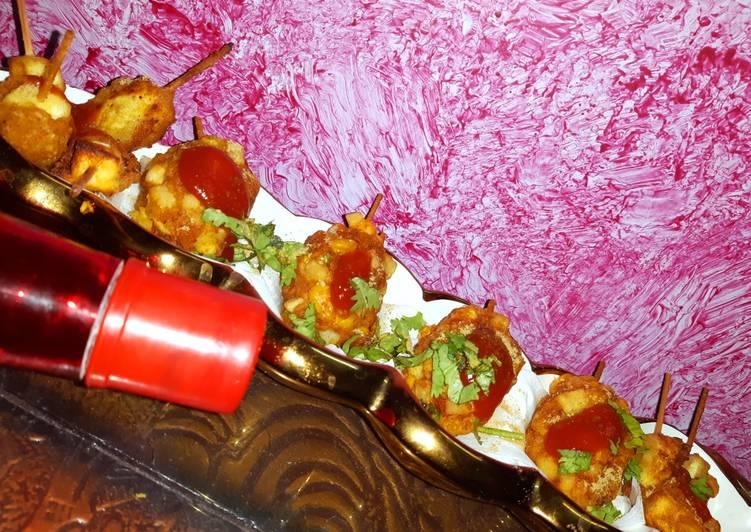 French fries corn potato paneer drum stick