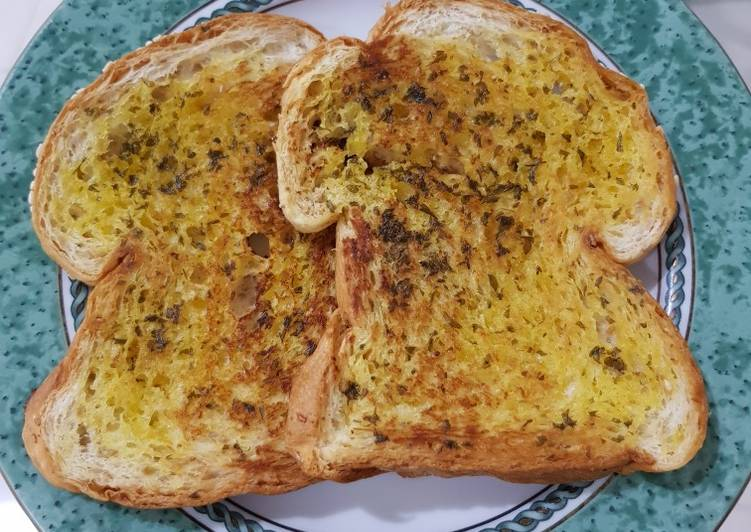 Resep Garlic Bread Simple Pake Teflon Terenak