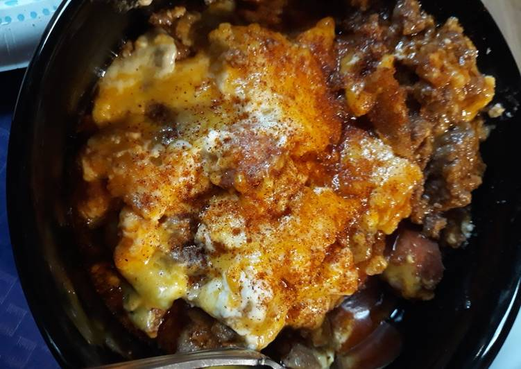 Bacon Chili Cheesedog Casserole