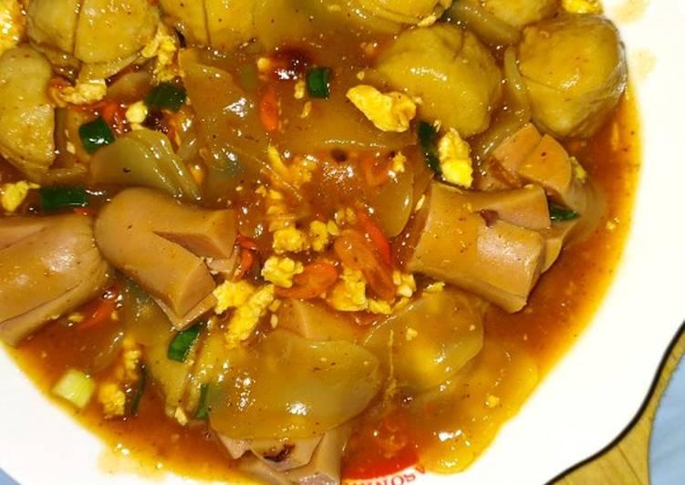 Seblak Krupuk (sosis,bakso ayam) Pedas