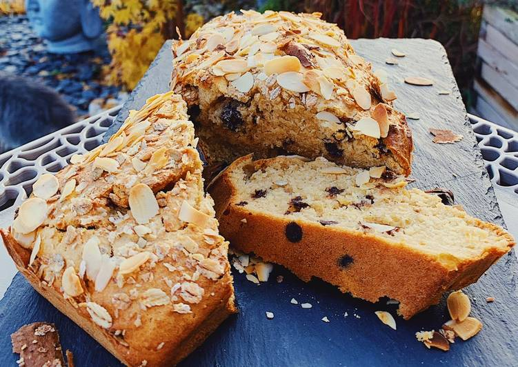 Recette de Super rapide Fait maison Cake amandes pépites de chocolat