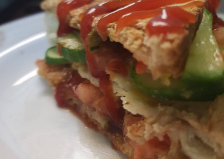 Double layer grill sandwich